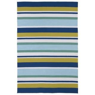 "Indoor/ Outdoor Luau Multicolored Stripes Rug (5' x 7'6) - 5' x 7'6"""