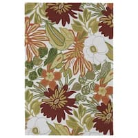 Indoor/ Outdoor Luau Multicolored Jungle Rug - 8'6 x 11'6