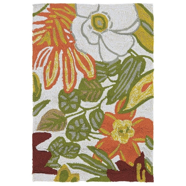 Indoor/ Outdoor Luau Multicolored Jungle Rug - 2' x 3'