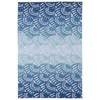 Indoor/ Outdoor Luau Blue Seashell Rug - 3' x 5'