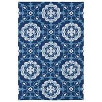Indoor/ Outdoor Luau Blue Paradise Rug - 3' x 5'
