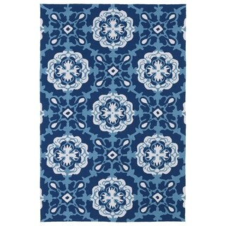 Indoor/ Outdoor Luau Blue Paradise Rug (5' x 7'6)
