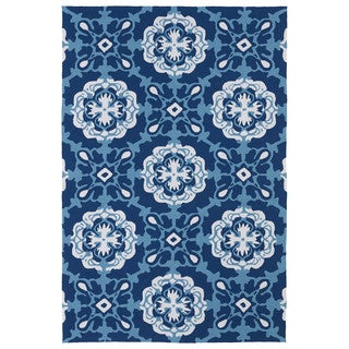 Indoor/ Outdoor Luau Blue Paradise Rug (7'6 x 9')