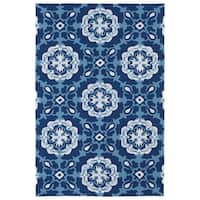 Indoor/ Outdoor Luau Blue Paradise Rug - 7'6 x 9'