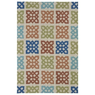 Indoor/ Outdoor Fiesta Panel Sand Rug (5' x 7'6) - 5' x 7'6