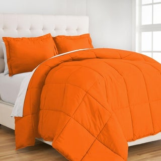 Porch & Den Rockridge McMillan Premium Down Alternative Comforter Set (Option: Twin - Twin XL - Orange)