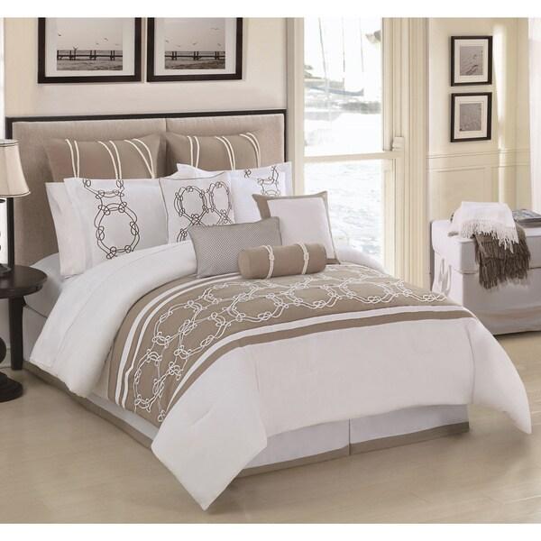 Cape Cod 10-piece Embroidered Comforter Set
