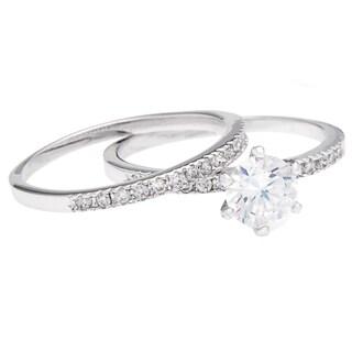 Simon Frank Designs 1.69ct 2-piece CZ Wedding/Bridal Set