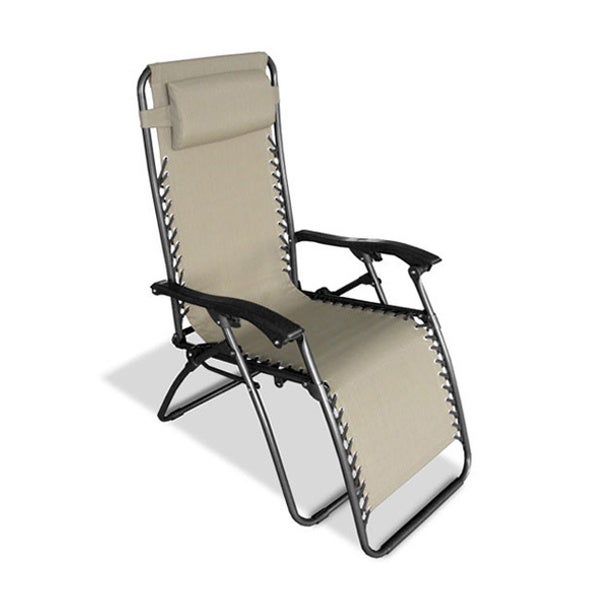Lovely Caravan Canopy Infinity Beige Oversized Zero Gravity Chair