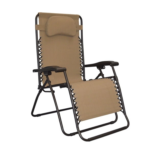 Caravan Sports Infinity Beige Oversized Zero Gravity Chair