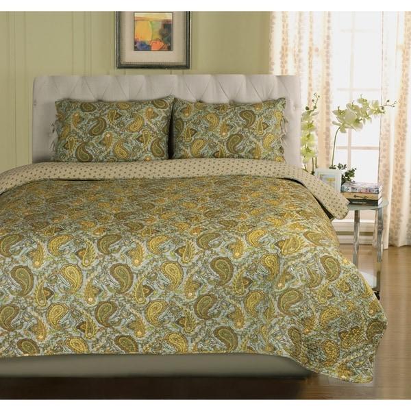 Miranda Haus Waldram Cotton 3-piece Quilt Set. Opens flyout.