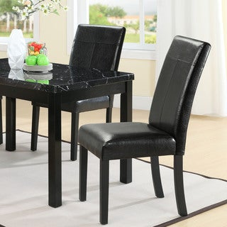 Compass Elegant Black Vinyl Dining Chair
