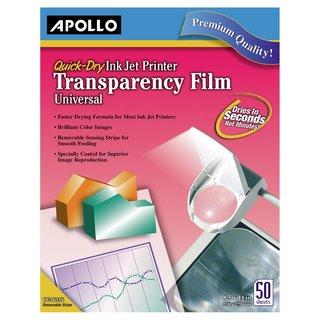 Apollo Inkjet Printer Clear Transparency Film (Box of 50)