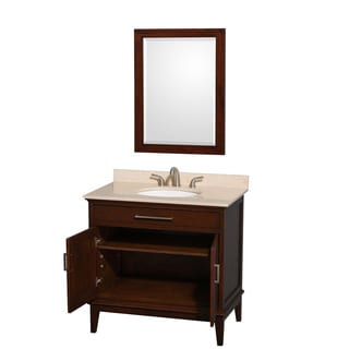 Wyndham Collection Hatton Dark Chestnut 36-inch Single Vanity