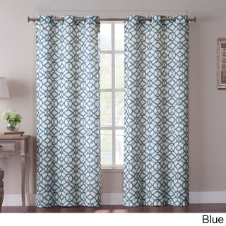 VCNY Tanjiers Ikat Grommet 84-inch Curtain Panel Pair
