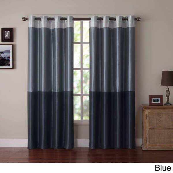 VCNY Park Slope Color Block Grommet Curtain Panel