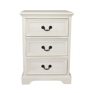 Urban Designs 3-drawer Antique White Solid Wood Nightstand
