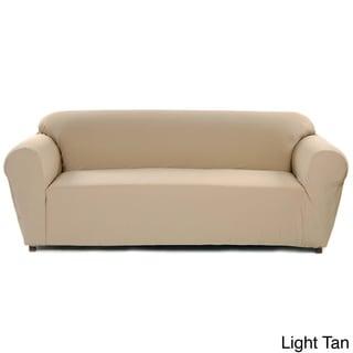 Stretch Poly/Twill One Piece Sofa Slipcover