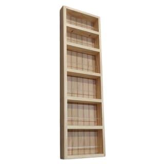 Pine Wood 37-inch On-the-wall Spice Rack II