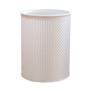 Basketweave White Round Bath Wastebasket|https://ak1.ostkcdn.com/images/products/8777767/Basketweave-White-Round-Bath-Wastebasket-P16017476.jpg?impolicy=medium