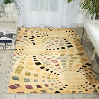 Parallels Ivory Area Rug (1'9 x 2'9)