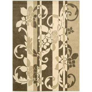 Somerset Floral Brown/ Beige Area Rug (7'9 x 10'10)