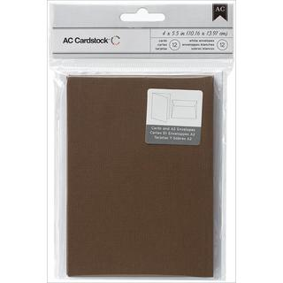 Cards & Envelopes A2 (4.375 X5.75 ) 12/Pkg - Chestnut