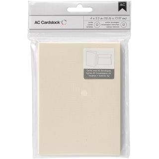 American Crafts A2 Cards & Envelopes (4.375 X5.75 ) 12/Pkg - Vanilla