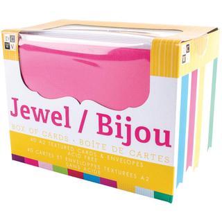 Box Of Cards & Envelopes A2 Size - Jewel Texture 40/Pkg