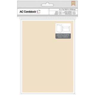Cards & Envelopes A7 (5.25 X7.25 ) 12/Pkg - Kraft