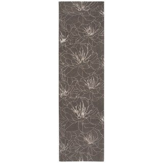 kathy ireland Palisades Architectural Wildflower Mushroom Area Rug by Nourison (2'3 x 8')