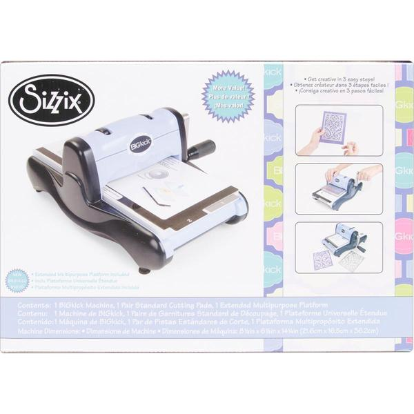 Sizzix BIGkick Machine W/Extended Multipurpose Platform - Periwinkle