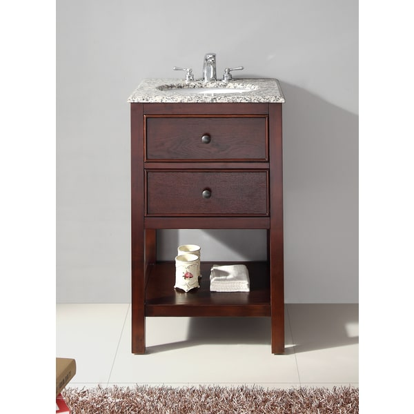 Awesome WYNDENHALL New Haven Walnut Brown 1 Functional Drawer 20 Inch Bath Vanity  Set With