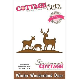 CottageCutz Elites Die 3.5 X1.8  - Winter Wonderland Deer