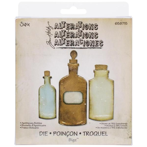 Sizzix Bigz Die By Tim Holtz 5.5 X6  - Apothecary Bottles