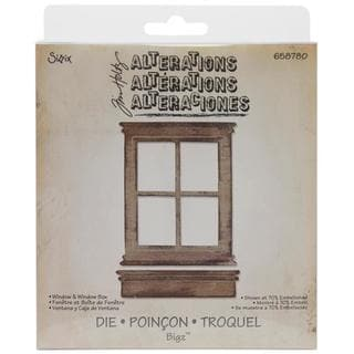 Sizzix Bigz Die By Tim Holtz 5.5 X6 - Window & Window Box