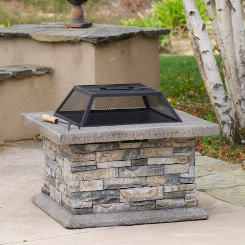 Crestline Outdoor Natural Stone Fire Pit