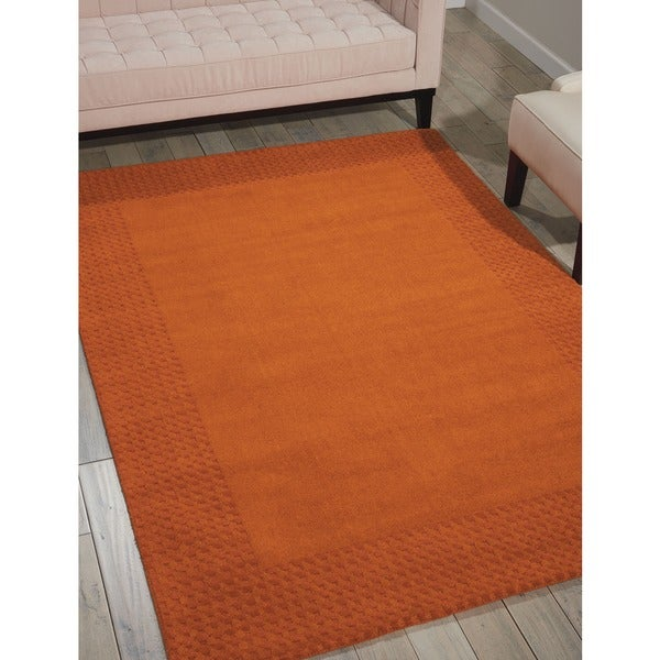 kathy ireland Cottage Grove Terracotta Area Rug by Nourison (8' x 10'6) - 8' x 10'6