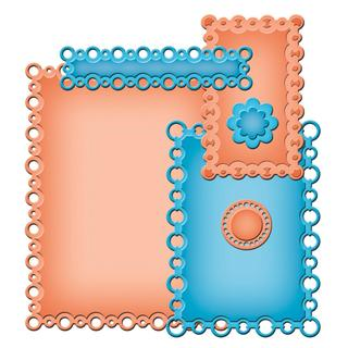 Spellbinders Nestabilities A2 Card Creator Dies - Pearl Effects