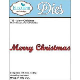 Elizabeth Craft Designs Metal Die - Merry Christmas
