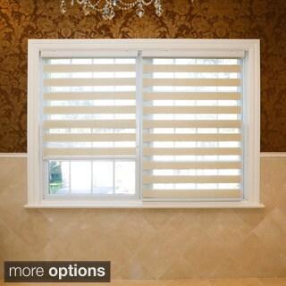 Aurora Home Premium Duo-roller Mushroom Wood Look Window Shade