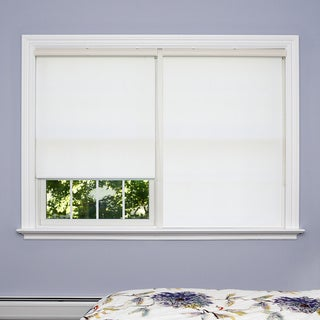 Aurora Home Premium White Wood Look Roller Window Shade