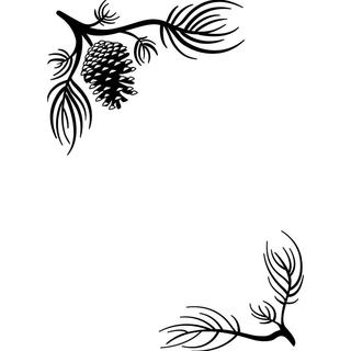 Darice Embossing Folder 4.25 X5.75  - Pine Branches