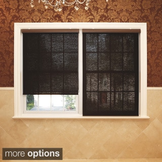 Aurora Home Premium Chocolate Wood Look Roller Window Shade