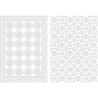 Spellbinders M-Bossabilities A4 Card Embossing Folder - Diamond Fleur De Lis