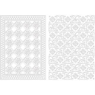 Spellbinders M-Bossabilities A4 Card Embossing Folder - Diamond Fleur De Lis