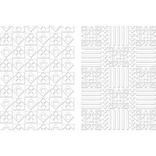 Spellbinders M-Bossabilities A4 Card Embossing Folder - Quiltworks