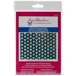 Spellbinders M-Bossabilities 3D Embossing Folder   - Celtic Weave