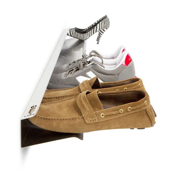 j-me Horizontal Stainless Steel Wall-mount Shoe Rack
