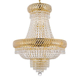 Gallery 9-light Gold Empire Crystal Chandelier
